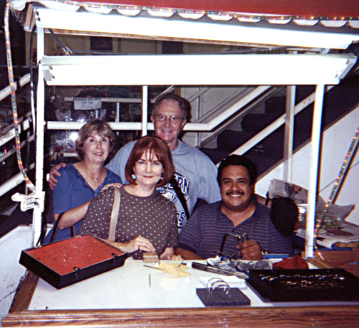 Sandy, Chuck, Barbara, & our Kobbe Kid ring maker